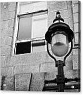 Old Sugg Gas Street Lights Converted To Run On Electric Lighting Aberdeen Scotland Uk Acrylic Print by Joe Fox