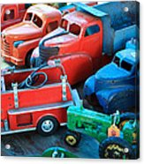 Old Tin Toys Acrylic Print by Steve McKinzie