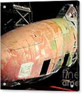 Old Us Fighter Jet Fuselage . 7d11252 Acrylic Print by Wingsdomain Art and Photography