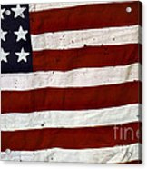 Old Usa Flag Acrylic Print by Carlos Caetano