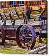 Old Wagon Bodie Ghost Town Acrylic Print by Garry Gay