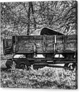 Old Wagon Acrylic Print by Lisa Moore