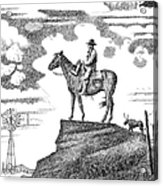 Old-west-art-cowboy Acrylic Print by Gordon Punt