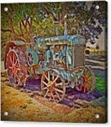Oliver Tractor 2 Acrylic Print by Nick Kloepping