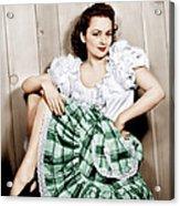 Olivia De Havilland, Ca. 1948 Acrylic Print by Everett