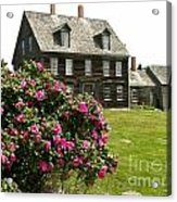 Olson House With Flowers Acrylic Print by Theresa Willingham