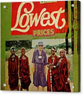 On The Lowest Prices Shopping Acrylic Print by Adam Kissel