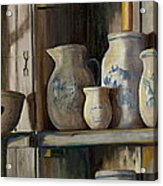 On The Shelf Acrylic Print by Sheila Kinsey