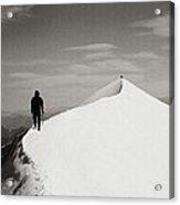 On The Snow Crest Acrylic Print by Konstantin Dikovsky