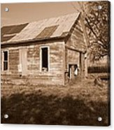 One Room School House Acrylic Print by Rick Rauzi