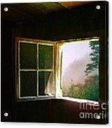 Open Cabin Window In Spring Acrylic Print by Julie Dant