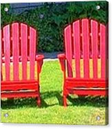 Open Seating Acrylic Print by Randall Weidner