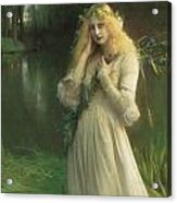 Ophelia Acrylic Print by Pascal Adolphe Jean Dagnan Bouveret