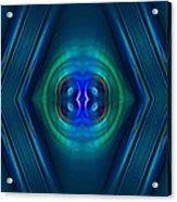 Optical Blue Acrylic Print by Carolyn Marshall