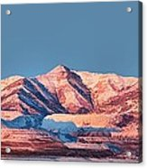 Oquirrh Mountains Utah First Snow Acrylic Print by Tracie Kaska