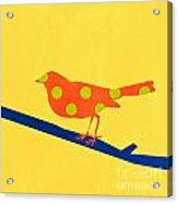 Orange Bird Acrylic Print by Linda Woods
