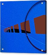 Orange Over Blue Acrylic Print by Grant  Van Zevern
