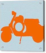 Orange Scooter Acrylic Print by Naxart Studio