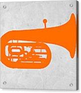 Orange Tuba Acrylic Print by Naxart Studio