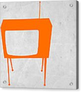 Orange Tv Acrylic Print by Naxart Studio