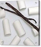 Organic Marshmallows With Vanilla Acrylic Print by Joana Kruse