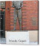 Orlando Cepeda At San Francisco Giants Att Park .7d7631 Acrylic Print by Wingsdomain Art and Photography