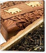 Ornate Box With Darjeeling Tea Acrylic Print by Fabrizio Troiani