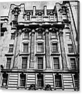 Ornate Facade Of 124 St Vincent Street Refurbished Into Modern Office Space Glasgow Scotland Uk Acrylic Print by Joe Fox