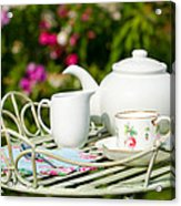Outdoor Tea Party Acrylic Print by Amanda And Christopher Elwell