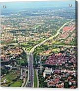 Overview Of Jakarta. Acrylic Print by TeeJe