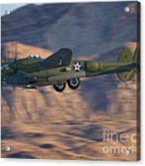 P-38 Gear Up Acrylic Print by Tim Mulina