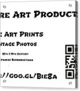 Padre Art Productions Qr Card Acrylic Print by Padre Art