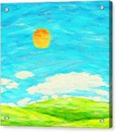 Painting Of Nature In Spring And Summer Acrylic Print by Setsiri Silapasuwanchai