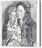 Pakistani Mother And Child Acrylic Print by John Keaton