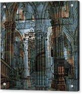 Palace Hall Acrylic Print by Angel Jesus De la Fuente