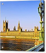 Palace Of Westminster From Bridge Acrylic Print by Elena Elisseeva