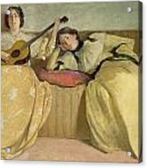 Panel For Music Room Acrylic Print by John White Alexander