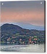 Panorama Lake Maggiore Acrylic Print by Joana Kruse