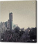 Panorama Of Central Park - Old Fashioned Sepia Acrylic Print by Alex AG