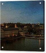 Panoramic Appleton Skyline Acrylic Print by Joel Witmeyer