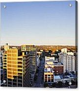 Panoramic City Skyline Acrylic Print by Jeremy Woodhouse