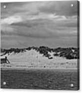 Panoramic Of Lossiemouth Beach On West Coast Of Scotland Acrylic Print by Zoe Ferrie