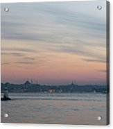 Panoramic View Of Maiden Tower Acrylic Print by Doruk Photography