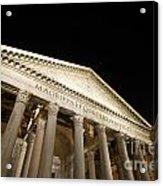 Pantheon At Night. Rome Acrylic Print by Bernard Jaubert