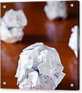 Paper Balls Acrylic Print by Carlos Caetano