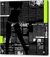 Paper Dance 2 Acrylic Print by Naxart Studio