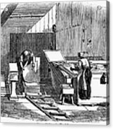 Papermaking, 1833 Acrylic Print by Granger