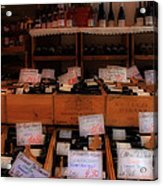 Paris Wine Shop Acrylic Print by Andrew Fare