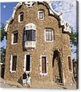 Park Guell Barcelona Antoni Gaudi Acrylic Print by Matthias Hauser