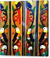 Parrots And Tucans  Acrylic Print by Unique Consignment